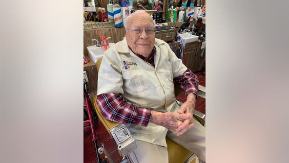 Happy birthday, Joe! Mesa barber celebrates 99th birthday