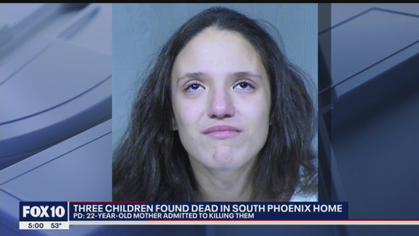 Police: South Phoenix mother admitted to killing 3 children