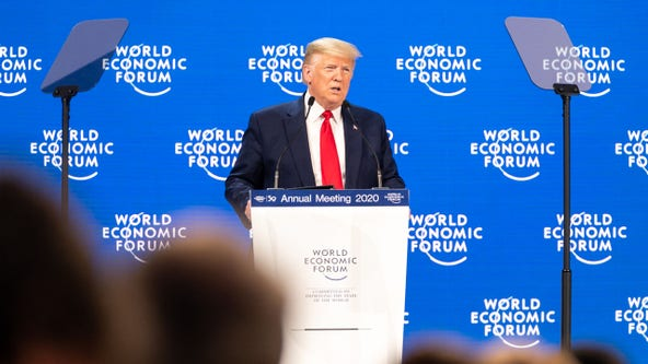 Trump lauds US economy at Davos forum, slams impeachment