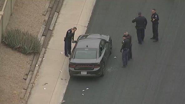 PD: Man found dead inside shot-up car in Phoenix