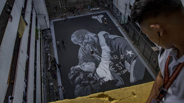 Stunning mural honors Kobe Bryant, daughter Gianna on basketball court in Philippines