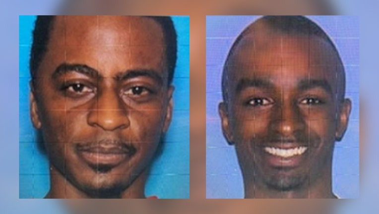 Jernard Black (left) and Martrevious Sanders (right) were two of the three men arrested in Zumbrota Monday morning. Police discovered they were wanted in connection with a gas station shooting in Mississippi Sunday morning.
