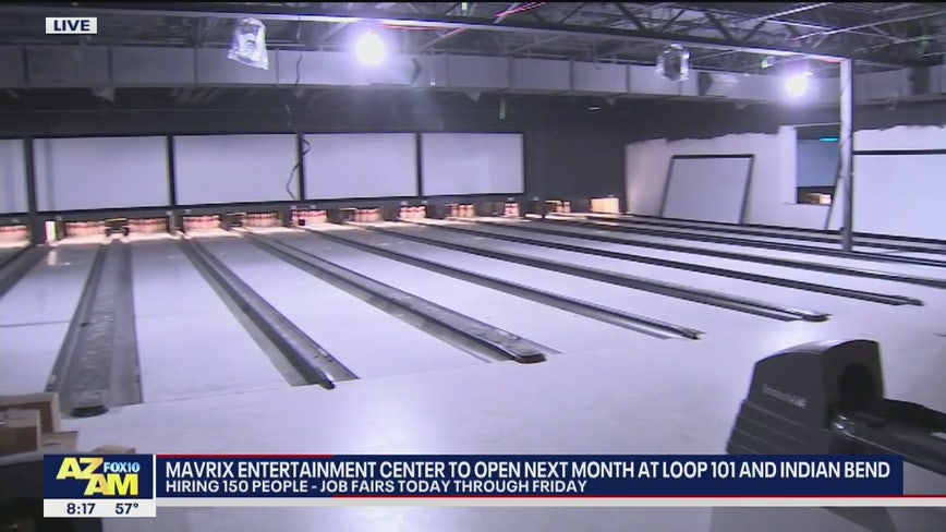 Mavrix Entertainment Center to open next month, hiring 150 people