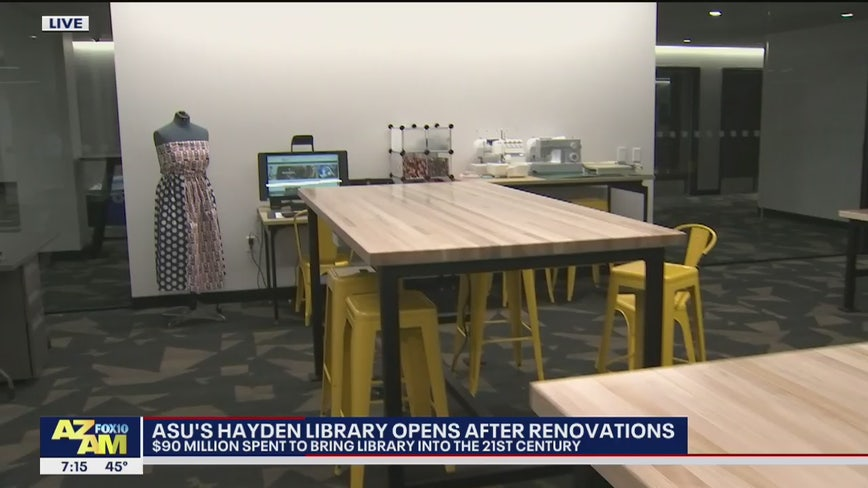 ASU's Hayden Library opens after $90M renovations