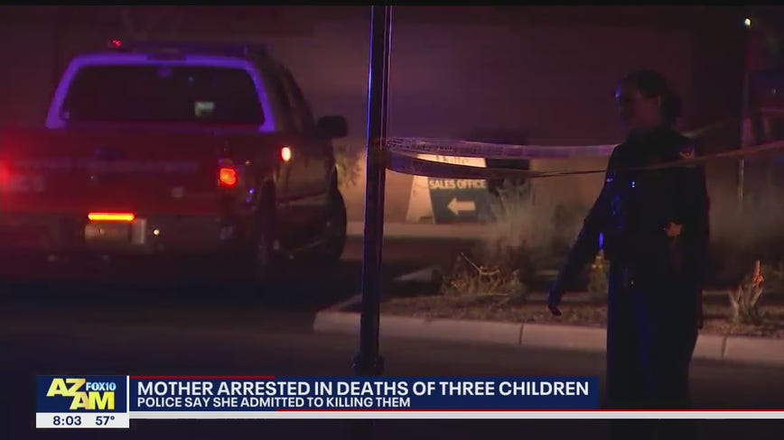 Police: Mother admits to killing 3 children at South Phoenix home