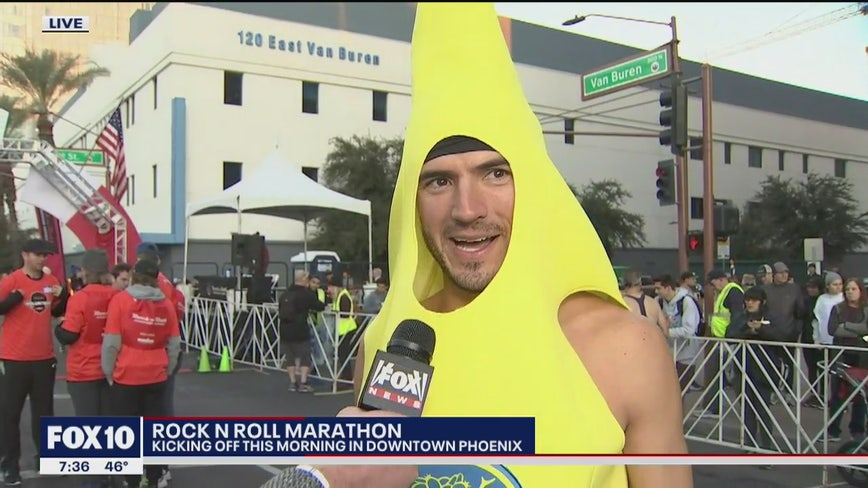 Thousands gather in downtown Phoenix for the Rock N Roll Marathon