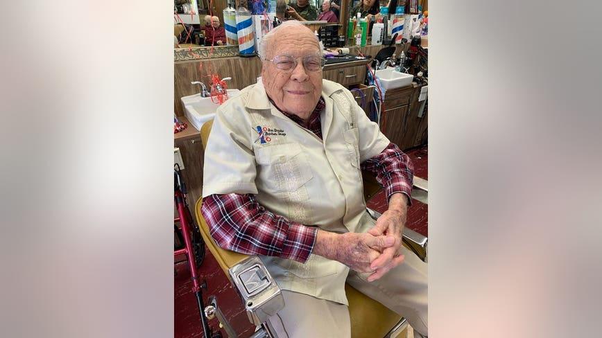 Happy birthday, Joe! Mesa barber celebrates 99th birthday