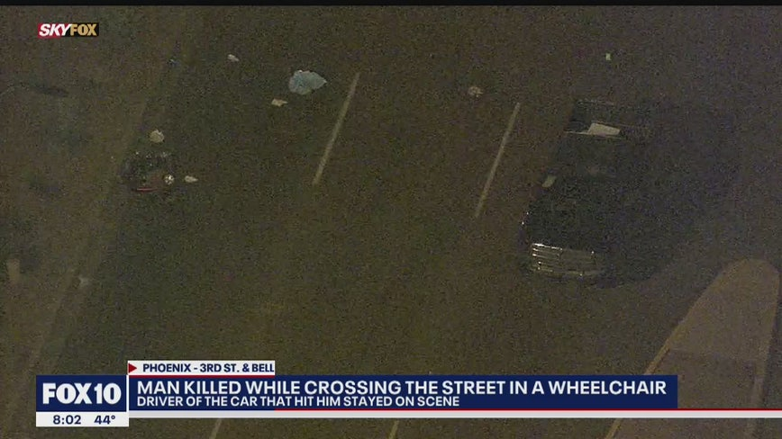 Man killed while crossing street in wheel chair