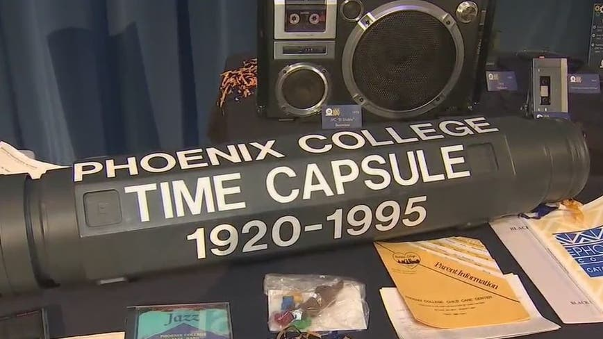A trip back in time: Phoenix College celebrates 100th anniversary by opening time capsule