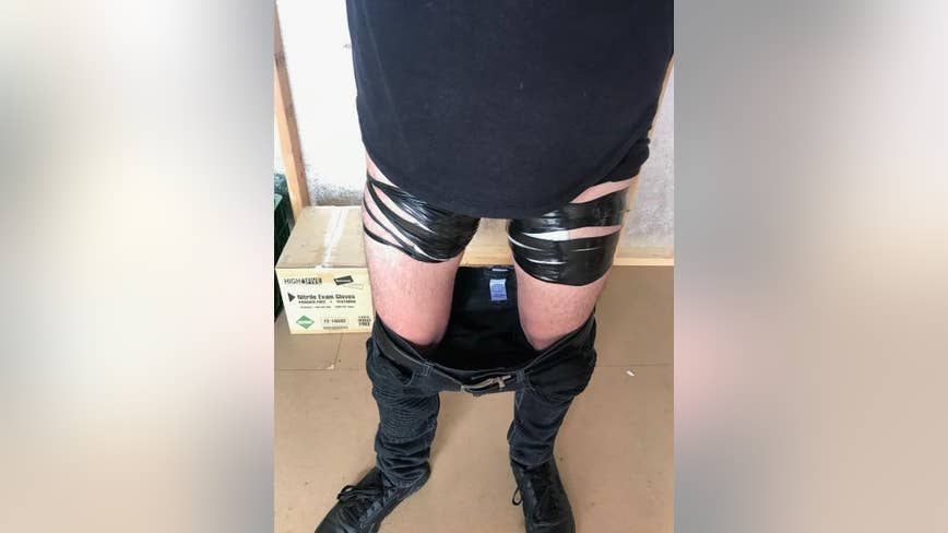 Border Patrol agents find fentanyl strapped to man's thighs