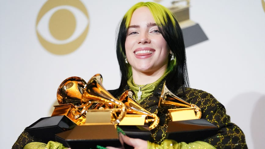 Billie Eilish sweeps 2020 Grammys, winning record, song, album and best new artist