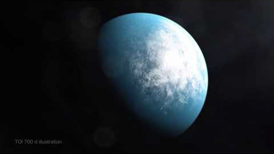 NASA's Transiting Exoplanet Survey Satellite (TESS) has discovered its first Earth-size planet in its star's habitable zone, the range of distances where conditions may be just right to allow the presence of liquid water on the surface. Scientists confirmed the find, called TOI 700 d, using NASA's Spitzer Space Telescope and have modeled the planet's potential environments to help inform future observations.