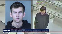 Valley high school student accused of taking video up female students' clothing