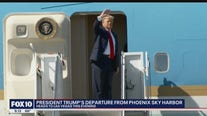 President Trump prepares to head to Las Vegas from Phoenix after campaign rally