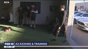 How to kick a football with AZ Kicking and Training