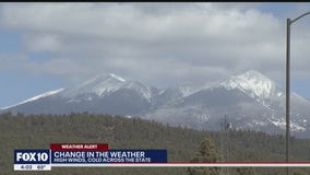 Flagstaff buffeted by wind