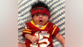 Kansas City hospital babies dressed as Chiefs players ahead of Super Bowl