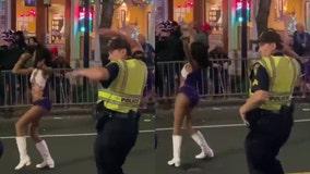 Alabama cop shows off dance moves at Mardi Gras parade