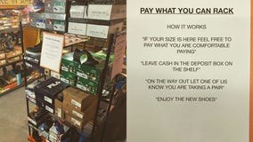 Maine shoe store offers 'pay what you can' rack for customers in need