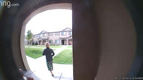 JJ Vallow caught on Ring Doorbell video in the last known recorded sighting of the now missing 7-year-old