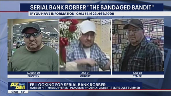 Warrant Wednesday: Serial bank robber the 'Bandaged Bandit' sought by FBI