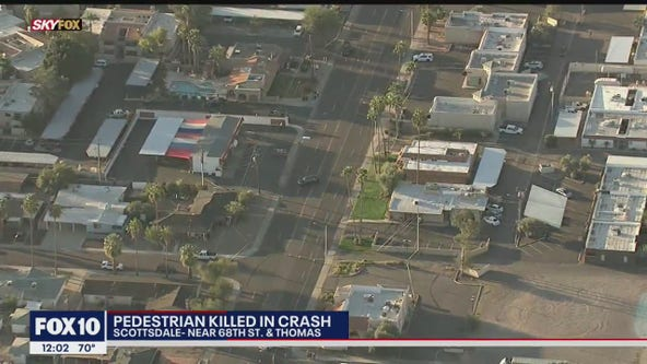 Pedestrian struck, killed in crash near 68th Street and Thomas in Scottsdale
