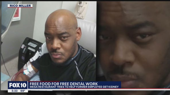 East Valley restaurant to give away food to dentist who will fix former worker's teeth for free