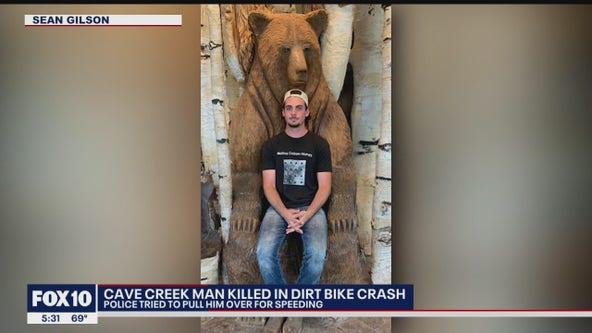 Cave Creek man dead following dirt bike crash