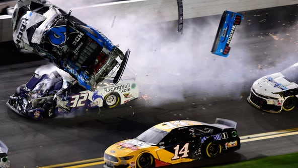 Newman's condition unknown after crash in final lap at Daytona 500