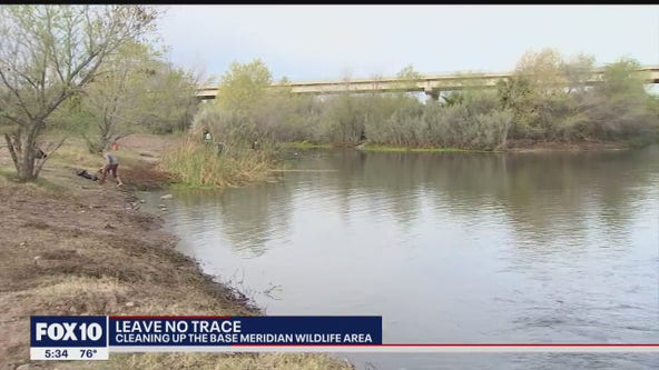 Leave No Trace: Volunteers clean up Base and Meridian Wildlife Area