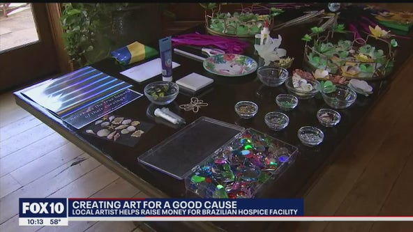 Local artist helps raise money for Brazilian hospice facility