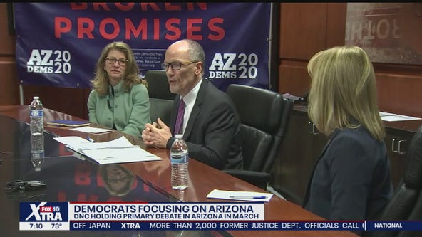 Democratic Party chairman visits Arizona as battle to turn the state blue continues