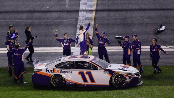 Denny Hamlin wins the Daytona 500 for second year in a row