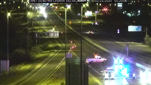Westbound US 60 in east Mesa reopens following deadly 2-car crash
