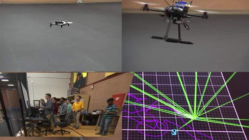 ASU students using technology and drones as they work to improve search for lost hikers