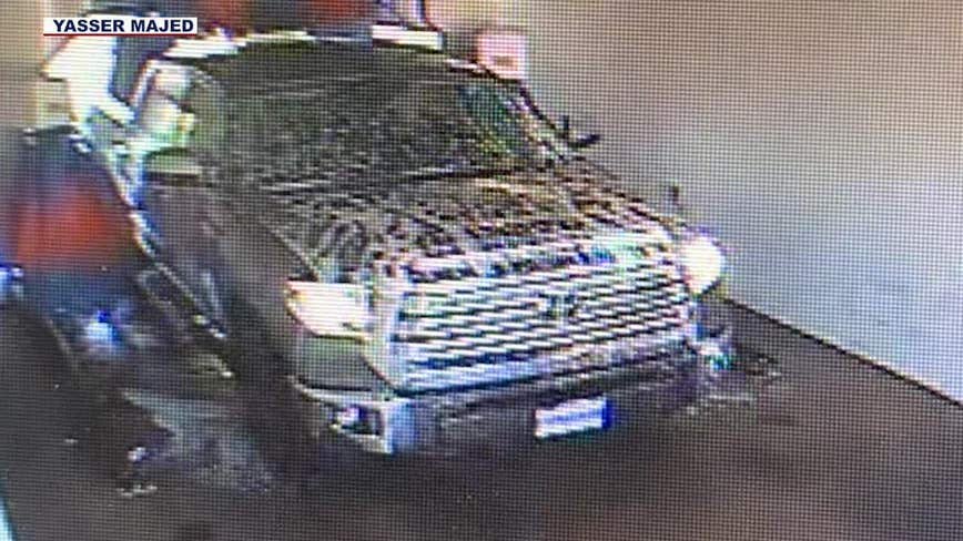 Business owner claims his car wash was damaged by a customer who took off