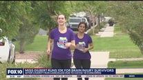 Miss Gilbert runs 10k for brain injury survivors