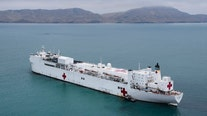 USNS Comfort equipped with 1,000 beds arriving Monday