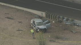 DPS investigates rollover crash scene on US 60