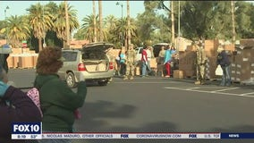 Mesa food bank relocates to Mesa Convention Center for weekly food distribution