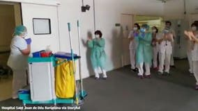 Cleaning staff at Barcelona hospital thanked with round of applause