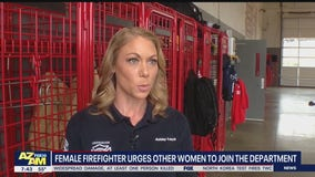 TyPad Sunday: Female firefighter urges other women to join the profession