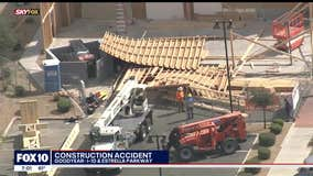 24-foot wood frame wall falls on construction workers