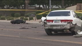 Mesa Fire: 2 people injured following crash involving motorcycle