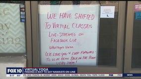Yoga class goes virtual during coronavirus pandemic