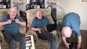 'Knees and toes!' Man shows seniors around the world how to stay active during coronavirus pandemic
