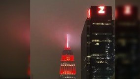 'Heartbeat of America': Health care workers honored with red light atop Empire State Building in NYC