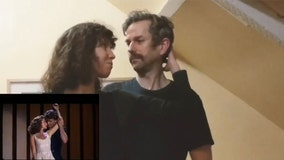 Couple recreates final dance scene from 'Dirty Dancing' while in COVID-19 isolation