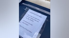 East Valley neighborhood uses food boxes to donate items for community