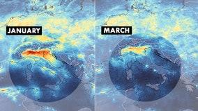 Satellite images shows Italy's pollution decrease during coronavirus response